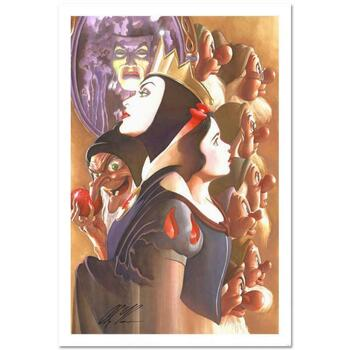 "Alex Ross, ""Once There Was a Princess"" Limited Edition Lithograph from Disney Fine Art. Hand Signed and with COA"