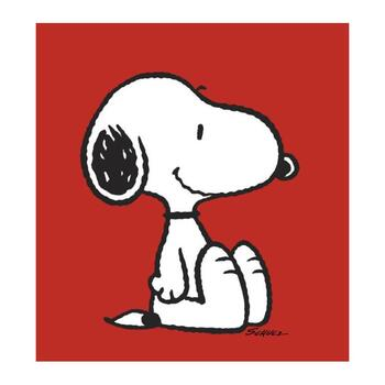 """Peanuts, """"Snoopy: Red"""" Hand Numbered Canvas (40""""x44"""") Limited Edition Fine Art Print with Certificate of Authenticity."""