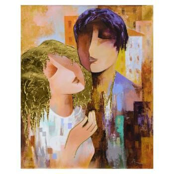 """Arbe, """"Honeymoon"""" Limited Edition on Canvas with Gold Embellishing, Numbered and Hand Signed with Certificate of Authenticity."""