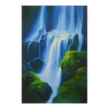 """Richard Leung, """"Hawaiian Blue"""" Hand Embellished Limited Edition on Canvas, Numbered 21/50 and Hand Signed with LOA."""