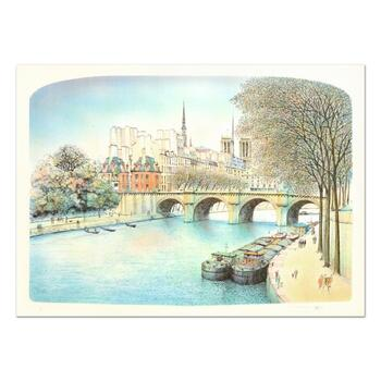 """Rolf Rafflewski, """"Seine II"""" - Limited Edition Lithograph, Numbered and Hand Signed."""