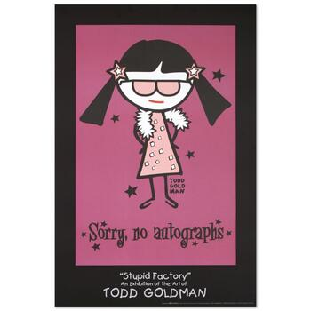 "Todd Goldman, ""Sorry, No Autographs"" Collectible Lithograph (24"" x 36"")."