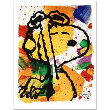 """""""Salute"""" Ltd Ed Collectible Lithograph by Charles Schulz Protege Tom Everhart-""""Peanuts"""" 50th Anniversary, w/Cert."""