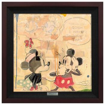 """""""Perplexed"""" Framed Limited Edition Canvas by Jim Salvati from the Disney Silver Series; with COA"""