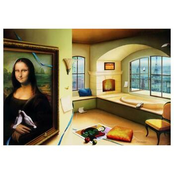 """Orlando Quevedo, """"Mona Lisa"""" Limited Edition on Canvas, Numbered and Hand Signed with Certificate"""