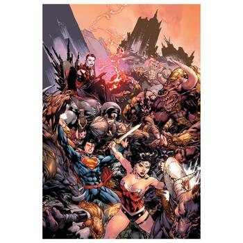 """DC Comics, """"Superman/ Wonder Woman #17"""" Numbered Limited Edition Giclee on Canvas by Ed Bened with COA."""