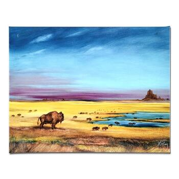 """Martin Katon, """"Where the Buffalo.."""" Ltd Ed Giclee on Gallery Wrapped Canvas, Numbered and Hand Signed."""