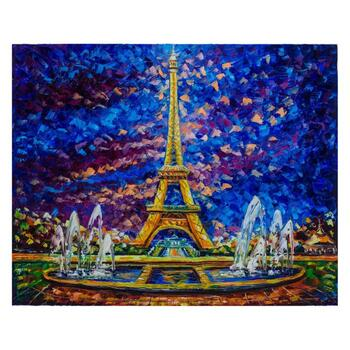"""Svyatoslav Shyrochuk, """"Paris View"""" Hand Signed Limited Edition Giclee on Canvas with Letter of Authenticity."""