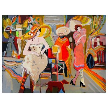 """Isaac Maimon, """"Elite Boulevard"""" Limited Edition Serigraph, Numbered and Hand Signed with Letter of Authenticity."""