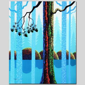 """Larissa Holt, """"Blue Neon"""" Ltd Ed Giclee on Gallery Wrapped Canvas, Numbered and Signed."""