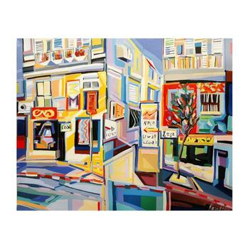 "Natalie Rozenbaum, ""Corner At Bugrashov"" Limited Edition on Canvas, Numbered and Hand Signed with Letter of Authenticity."