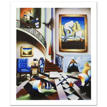 """Ferjo, """"Surrealist Stairway"""" Limited Edition Giclee on Canvas, Numbered and Hand Signed with Certificate."""