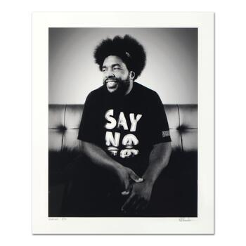 """Rob Shanahan, """"Questlove"""" Hand Signed Limited Edition Giclee with COA."""