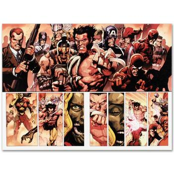 """Marvel Comics """"Secret Invasion #8"""" Numbered Limited Edition Canvas by Leinil Francis Yu; Includes COA."""