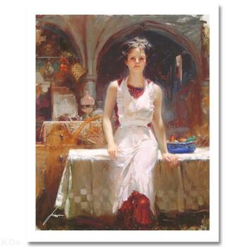 """Pino (1939-2010) """"Deborah Revisited"""" Limited Edition Giclee. Numbered and Hand Signed; Certificate of Authenticity."""