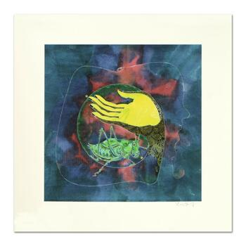 """Lu Hong """"Mudra Buddhashramana, Beyond Misery"""" Hand Signed Limited Edition Giclee with Letter of Authenticity."""