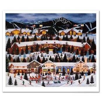 """Jane Wooster Scott, """"Alpine Winter Grandeur"""" Hand Signed Limited Edition Lithograph with Letter of Authenticity."""