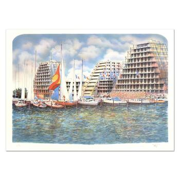 """Rolf Rafflewski, """"Grand Motte"""" Limited Edition Lithograph, Numbered and Hand Signed."""