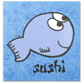 """Todd Goldman, """"Sushi"""" Ltd Ed Lithograph, Numbered and Hand Signed with Certificate of Authenticity."""