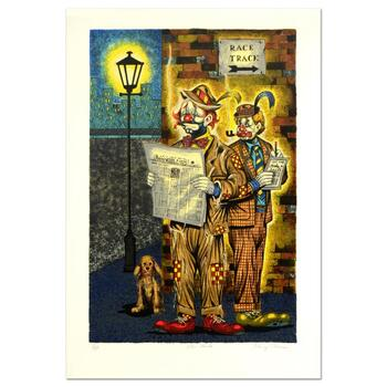 """George Crionas (1925-2004), """"The Gents"""" Limited Edition Lithograph, Numbered and Hand Hand Signed with Letter of Authenticity."""