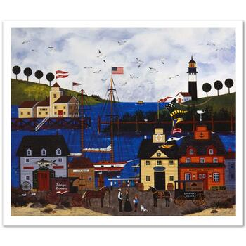 """Jane Wooster Scott, """"The Maine Attraction"""" Hand Signed Limited Edition Lithograph with Letter of Authenticity."""