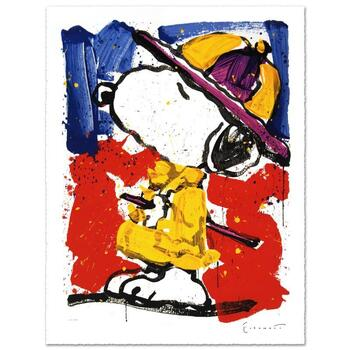 """Tom Everhart, """"Prada Puss"""" Ltd Ed Hand Pulled Original Lithograph, Numbered and Hand Signed, with Cert."""