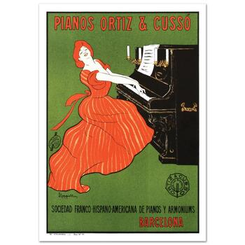 """RE Society, """"Piano Ortiz and Cuzzo"""" Hand Pulled Lithograph, Image Originally by Camiro. Includes Letter of Authenticity."""