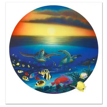 """Wyland, """"Sea Turtle Reef"""" Limited Edition Lithograph, Numbered and Hand Signed with Certificate."""