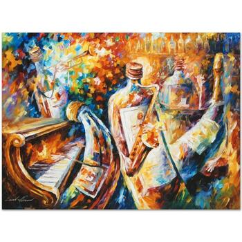 """Leonid Afremov (1955-2019) """"Bottle Jazz I"""" Limited Edition Giclee on Gallery Wrapped Canvas, Numbered and Signed."""