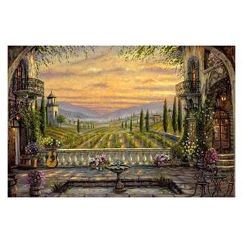 """Robert Finale, """"A Tuscan View"""" Hand Signed, Artist Embellished Limited Edition on Canvas with COA."""