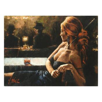 """Fabian Perez, """"Cynzia At Las Brujas"""" Hand Textured Limited Edition Giclee on Board. Hand Signed and Numbered."""