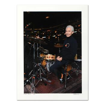"""Rob Shanahan, """"Charlie Watts"""" Hand Signed Limited Edition Giclee with COA."""
