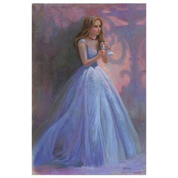 """""""Glass Slipper"""" Embellished Limited Edition on Canvas by Lisa Keene from Disney Fine Art; Numbered, Signed, with COA."""