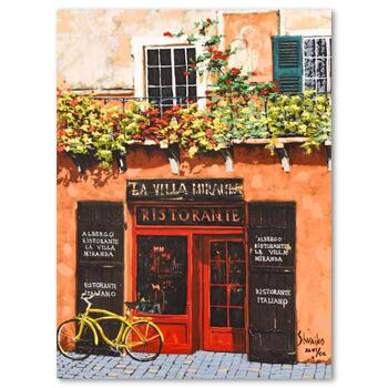 """Viktor Shvaiko, """"La Villa Miranda"""" Hand Embellished Limited Edition on Canvas, Numbered XLVI/CC and Hand Signed with LOA"""