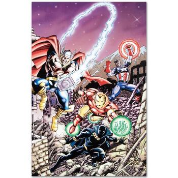 """Marvel Comics """"Avengers #21"""" Numbered Limited Edition Canvas by George Perez; Includes COA."""