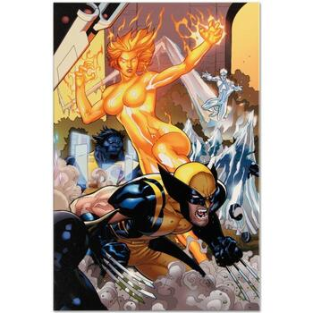 """Marvel Comics """"Secret Invasion: X-Men #4"""" Numbered Limited Edition Canvas by Terry Dodson; Includes COA."""