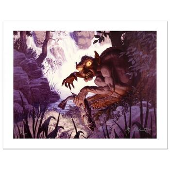 """Brothers Hildebrandt, """"Gollum"""" Limited Edition Giclee on Canvas, Numbered and Hand Signed with Certificate."""