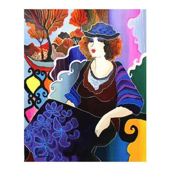 "Patricia Govezensky, ""Clarissa"" Original Acrylic on Canvas with Letter of Authenticity."