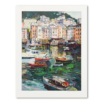"Henri Plisson, ""Emerald Bay"" Limited Edition Serigraph, Numbered and Hand Signed with Letter of Authenticity."