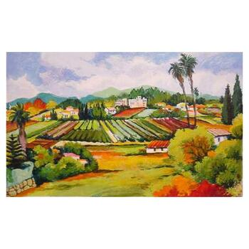 "Zina Roitman, ""Provence"" Hand Signed Limited Edition Serigraph with Letter of Authenticity."