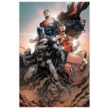 "DC Comics, ""Trinity #1"" Numbered Limited Edition Giclee on Canvas by Jason Fabok with COA."