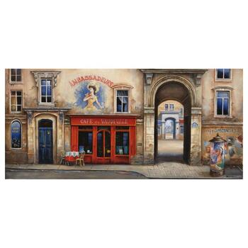 "Alexander Borewko, ""Cafe Du Vaudeville"" Hand Signed Limited Edition Giclee on Canvas with Letter of Authenticity."