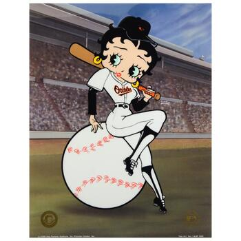 """Betty on Deck - Orioles"" Ltd Ed Sericel from King Features Syndicate, Inc., Numbered with COA."