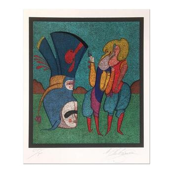 "Mihail Chemiakin - Carnival Series: ""Untitled 7"" Limited Edition Lithograph, Numbered Hand Signed with Certificate."