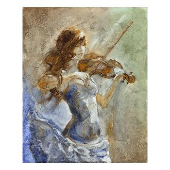 "Lena Sotskova, ""Enchanted"" Artist Embellished Limited Edition Giclee on Canvas with COA."
