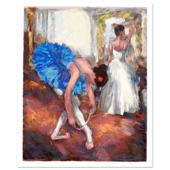 "Hedva Ferenci, ""Blue Dancer"" Limited Edition Serigraph, Numbered and Hand Signed with Certificate."