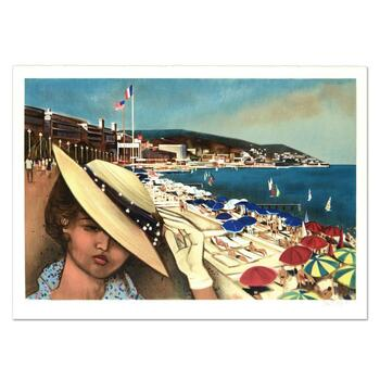 "Robert Vernet Bonfort, ""Cannes"" Limited Edition Lithograph, Numbered and Hand Signed."