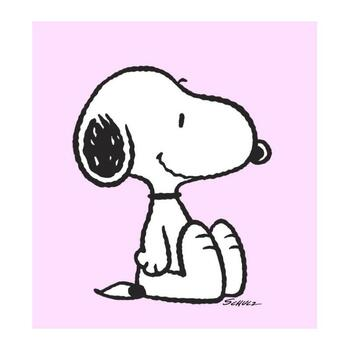 """Peanuts, """"Snoopy: Pink"""" Hand Numbered Canvas (40""""x44"""") Limited Edition Fine Art Print with Certificate of Authenticity."""