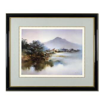 """H. Leung, """"Summer Quiet"""" Framed Limited Edition, Numbered 335/1000 and Hand Signed with Letter of Authenticity."""