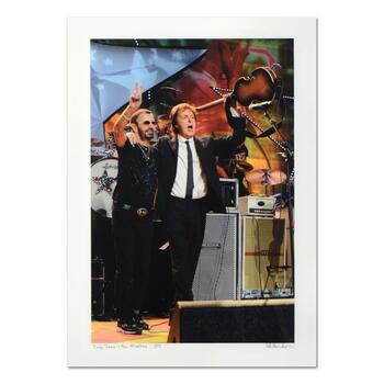 "Rob Shanahan, ""Ringo Starr & Paul McCartney"" Hand Signed Limited Edition Giclee with COA."